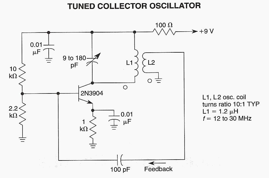 Tuned Collector Oscillator - schematic