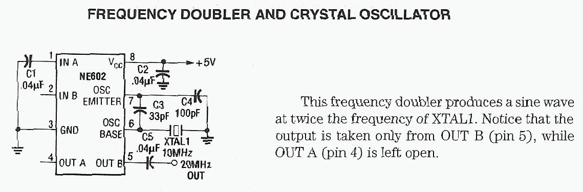 Crystal Doubler Oscillators - schematic