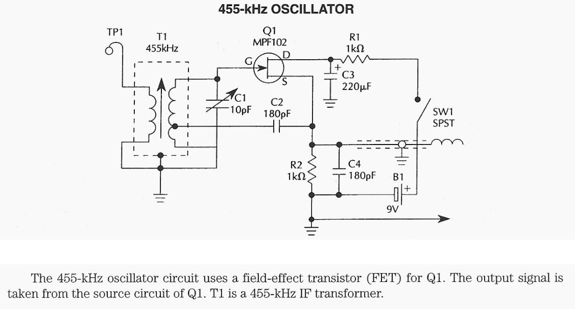 455 kHz Oscillator - schematic