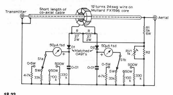 HF linear amplifier circuit - schematic