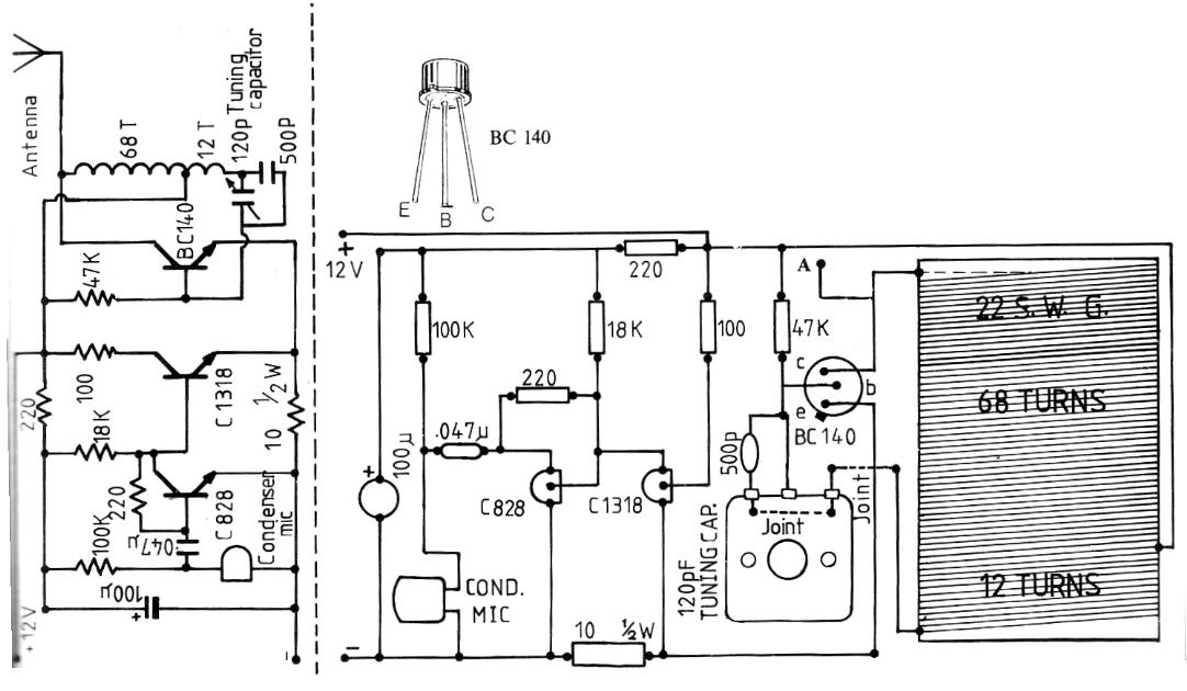 Mini FM Transmitter - schematic