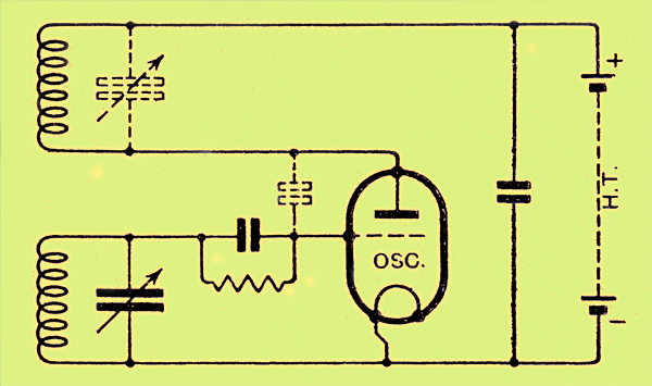 Valve oscillator circuit 100 Metres and Below - schematic