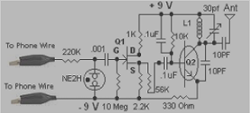 Transmitter Phone FM Transmitter - schematic