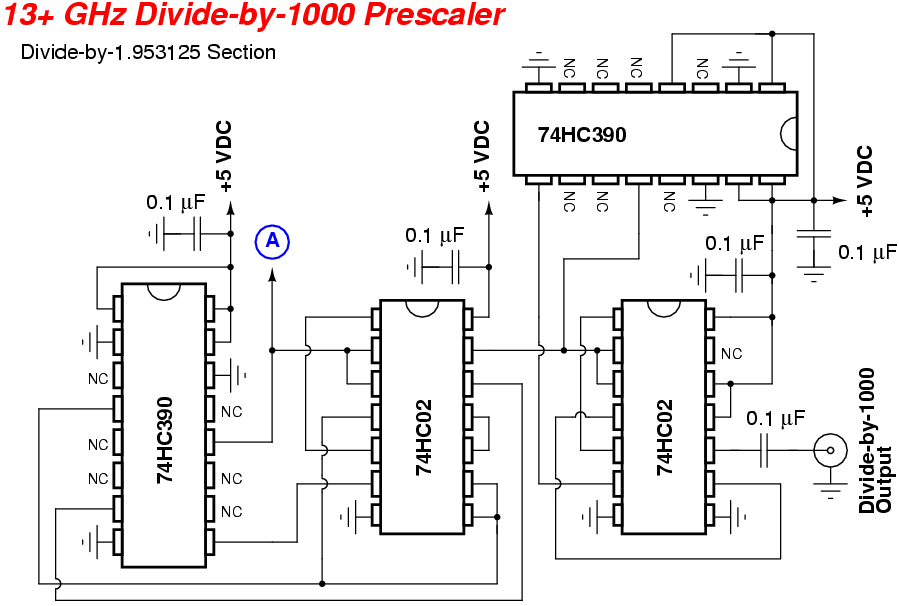 13 GHz Frequency Counter Prescaler - schematic