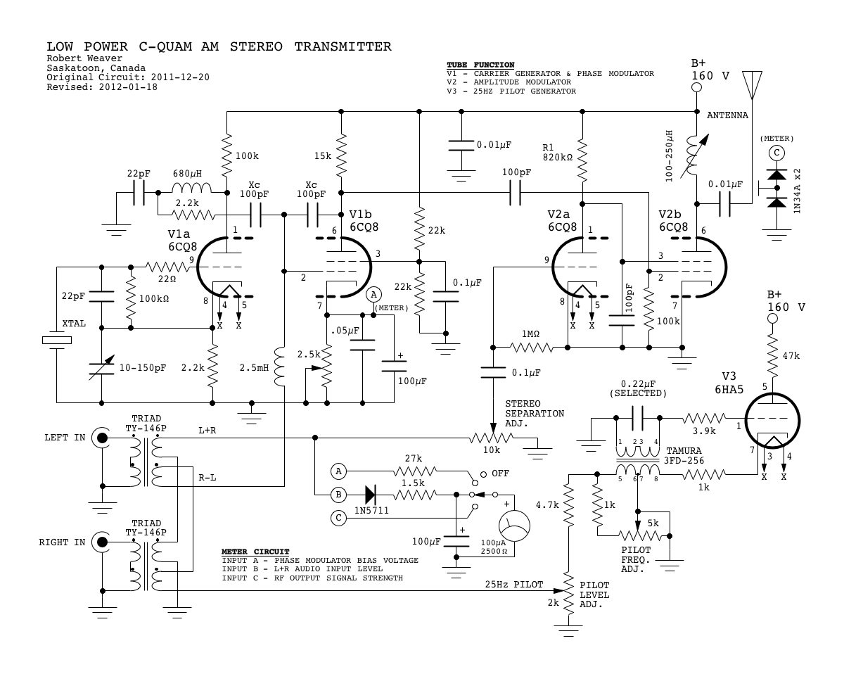 Audio Stereo Circuit Page 7 Circuits Current Limiting Amplifier Amplifiercircuitsaudio C Quam Am Transmitter Using Valves