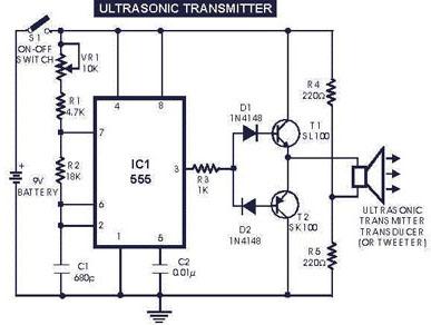 ultrasonic switch circuit - schematic