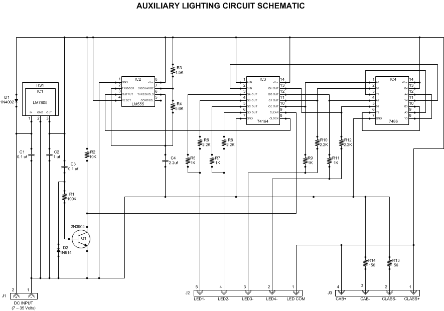 Auxiliary Lighting Circuit - schematic