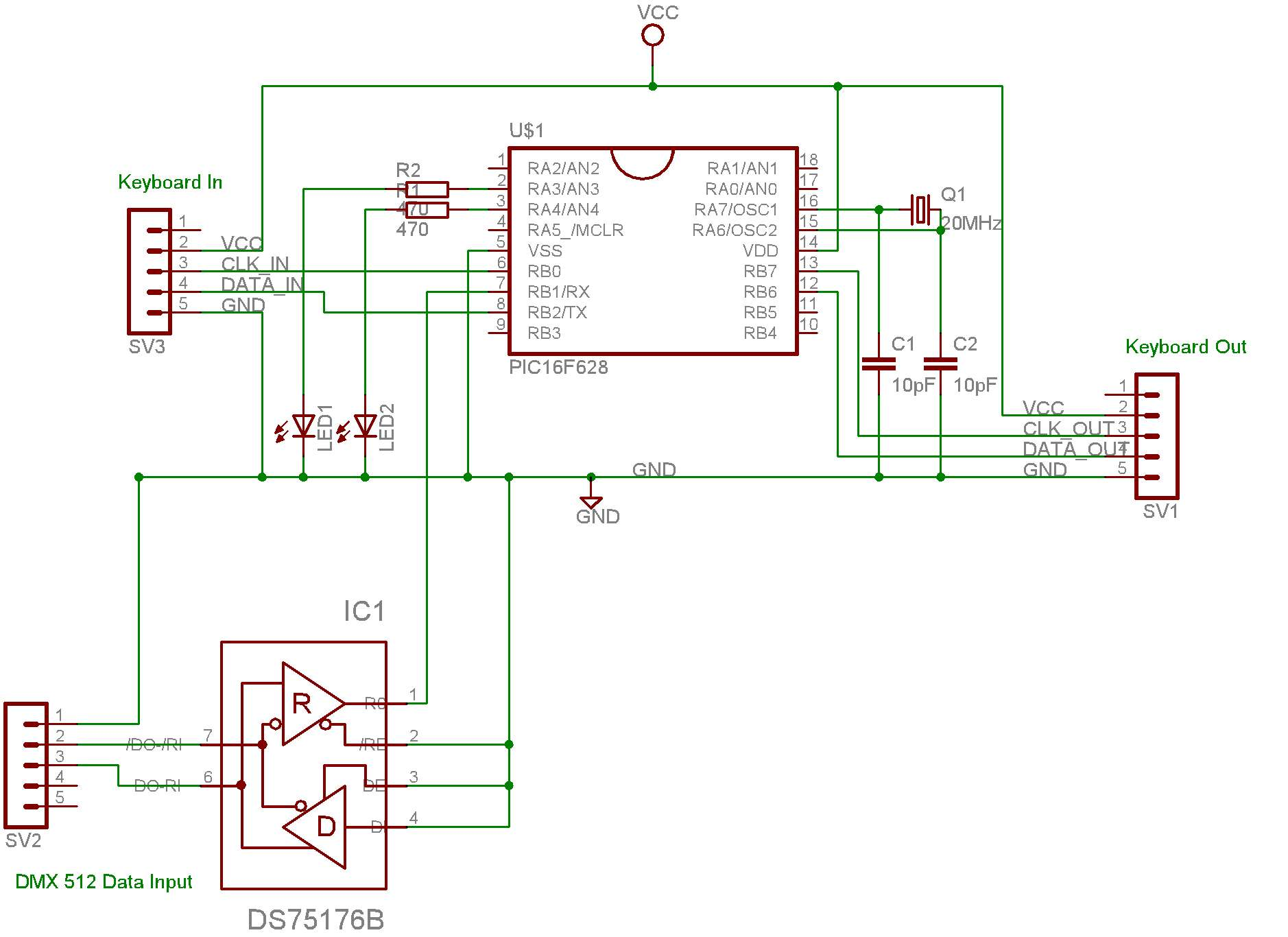 Computer Interface Circuit Page 6 Circuits Usb Control Board Wiring Diagram Dmx Pc Keyboard