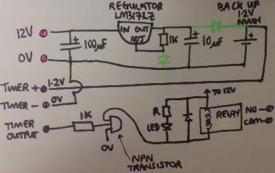Convert Digital Mains Timer To Low Voltage - schematic