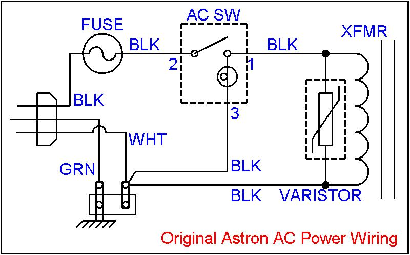 Adding an Inrush Current Reducer to an Astron Linear Power Supply - schematic