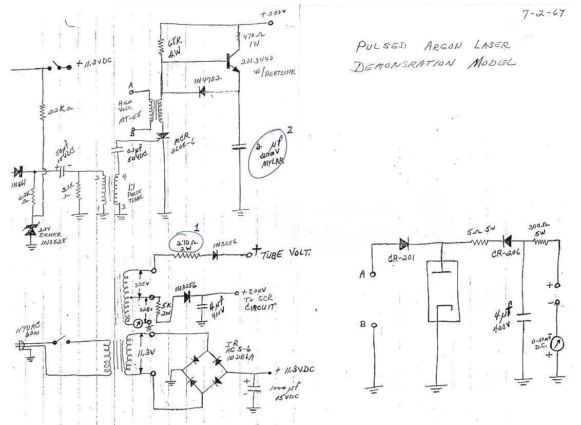 Laser Circuit Page 5 Light Led Circuits Negative Fixedvoltage Regulator Diagram Tradeofic Pulsed Argon And Or Krypton Ar Kr Ion