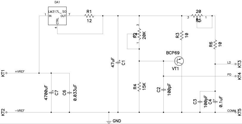 Diode Laser Power Supplies - schematic
