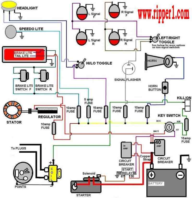 Motorcycle Wiring Harness Diagram Of Performance - Wiring