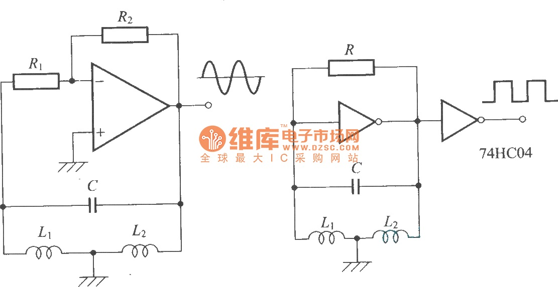 Hartley oscillator circuit - schematic