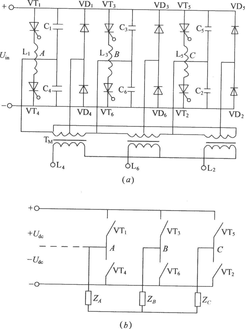 three phase bridge type inverter circuit diagram
