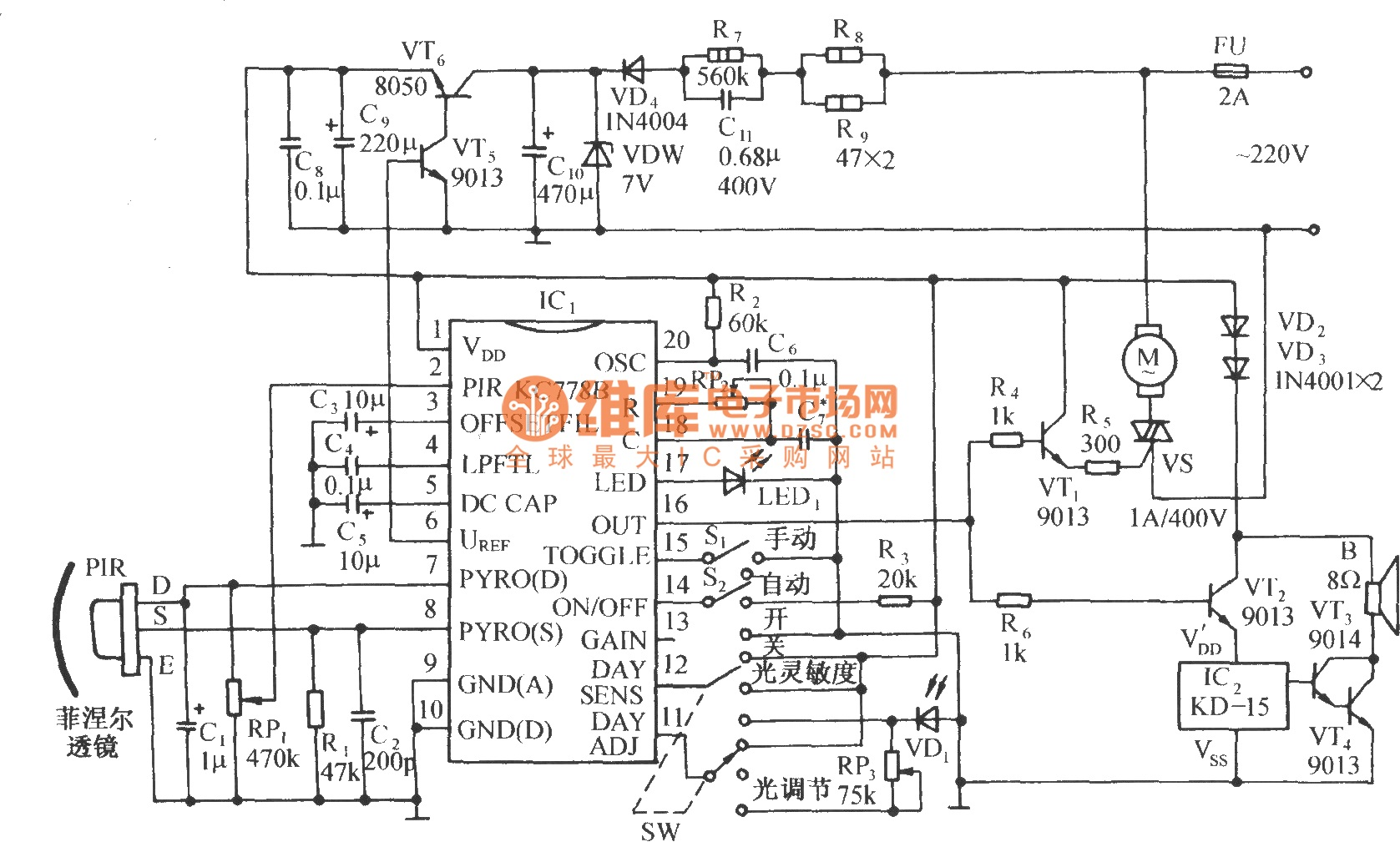 Infrared Circuit Page 9 Light Laser Led Circuits Motor Control 6 Automation Nextgr Sensing Automatic Door Diagram With Kc778b