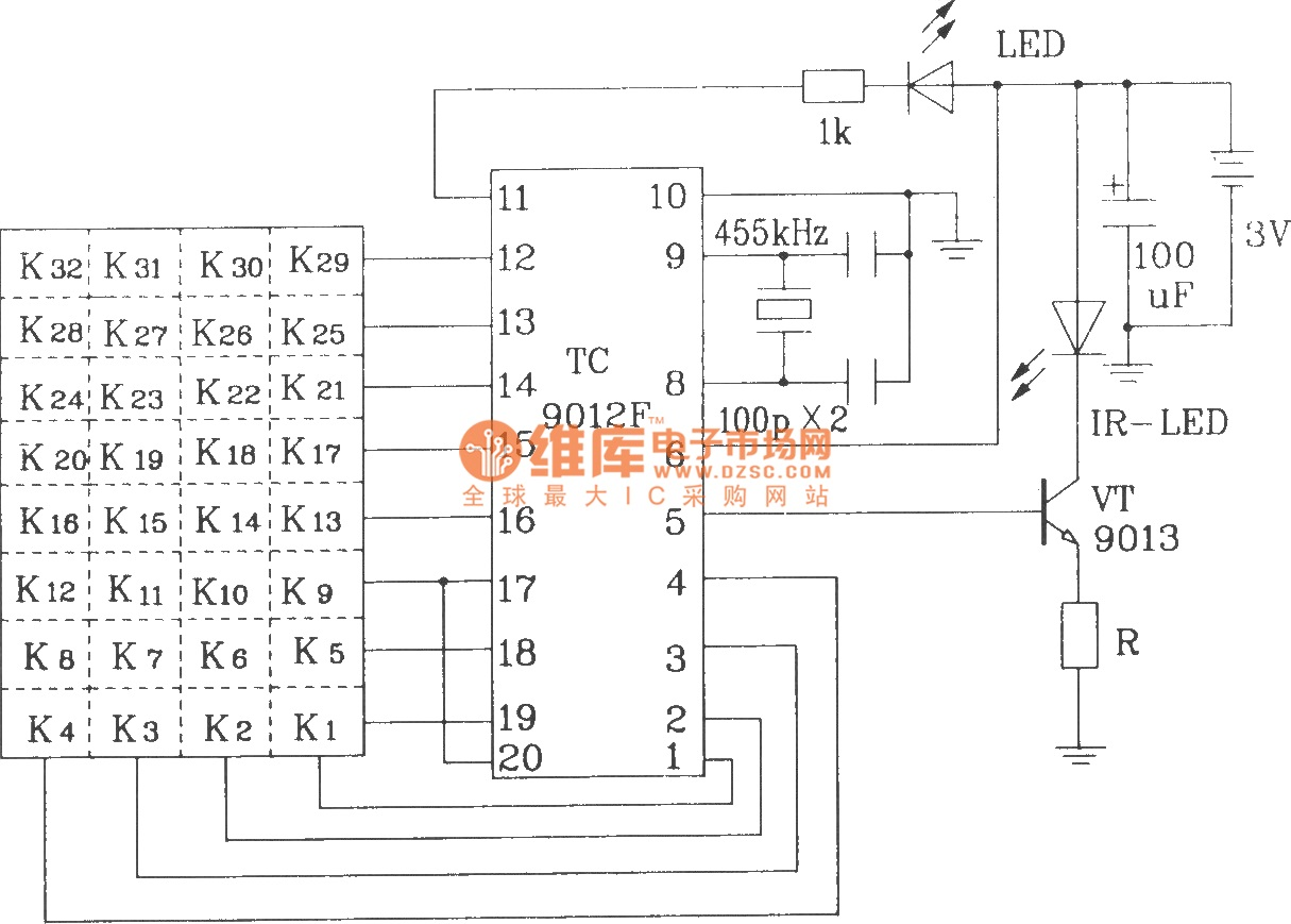Results Page 198 About Ldr Circuit Searching Circuits At Toy Car Remote Control Diagram Automotivecircuit Typical Infrared Emission Application Composed Of Tc9012f