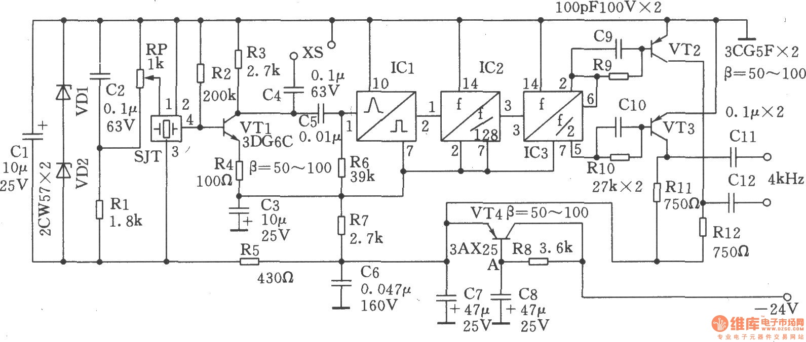 Results Page 54 About Transistor Smd Searching Circuits At Clock Circuit 5 Meter Counter Nextgr 1024khz And 4khz Square Wave Output