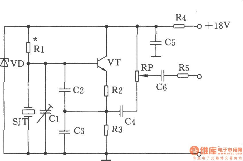 The Colpitts oscillator - schematic