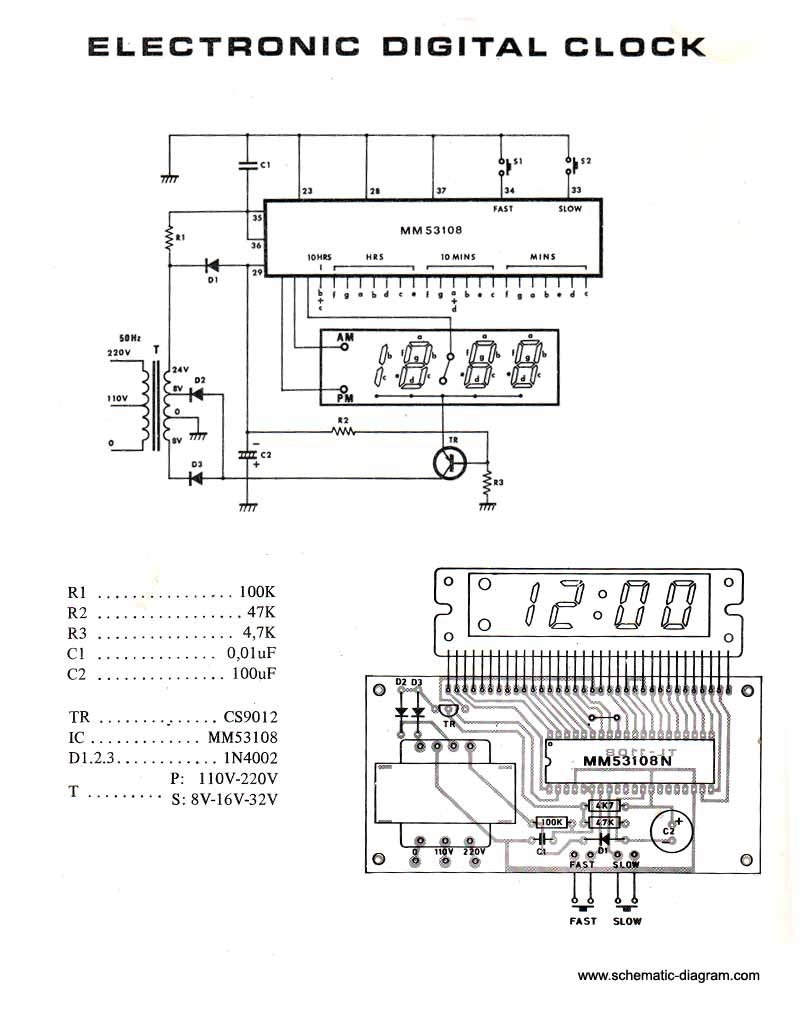Alarm Clock Overkill Schematic Wire Center Binary Counter Circuit Diagram Tradeoficcom Page 7 Meter Circuits Next Gr Rh 60hz Digital