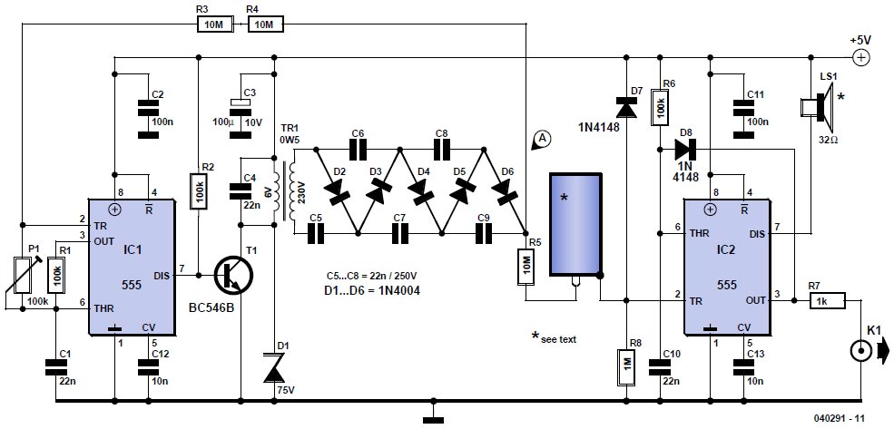 sensor radiation circuit Page 2 : Sensors Detectors Circuits ... on telephone circuit schematic, tesla coil circuit schematic, metal detector circuit schematic, geiger counter circuit board,