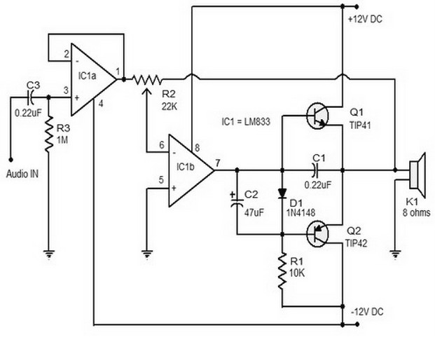 audio amplifier circuit page 12   audio circuits    next gr