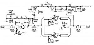4 watt 900mhz rf amplifier - schematic