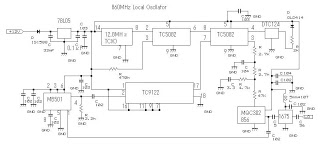 phase locked loop pll oscillator - schematic