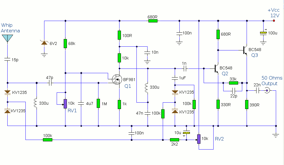 Active%2BAM%2BRadio%2BAntenna%2BAmplifier%2BPreamplifier%2BCircuit antenna project page 2 antenna circuits rf circuits next gr Aftermarket Radio Wiring Diagram at crackthecode.co
