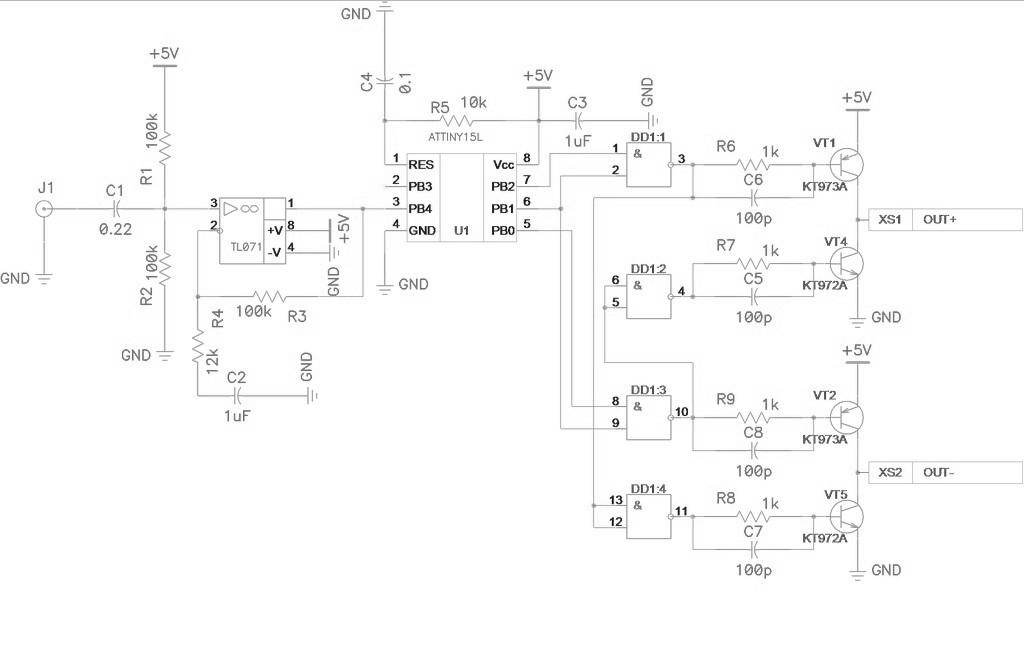 Class D Amplifier For Attiny15l Under Repository