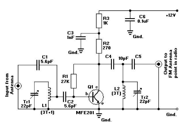 fm radio antena amplifier under repository-circuits