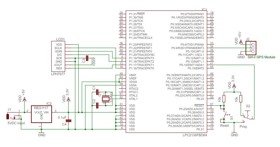 Microcontroller projects 1 - schematic