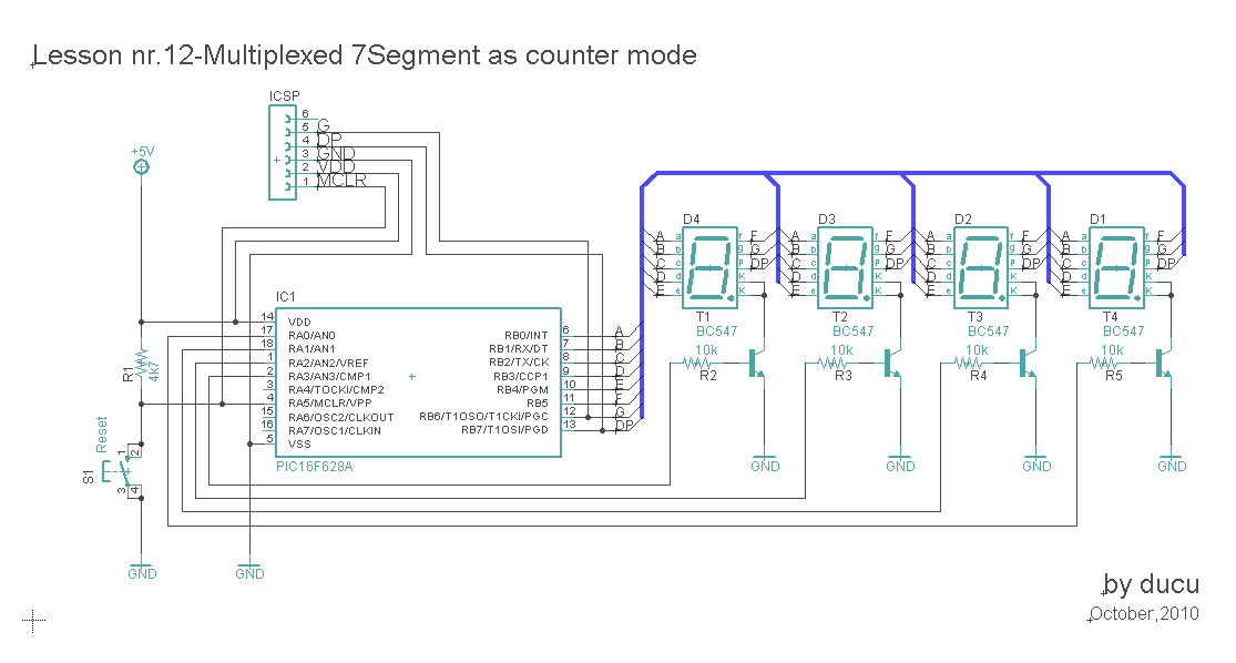 multiplexed 7 segment - schematic
