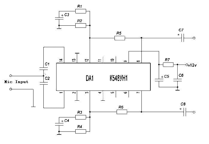 Mic Amplifier - schematic