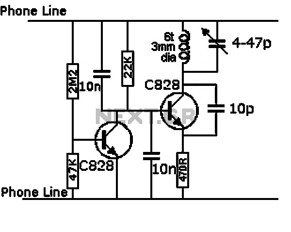 miniature audio oscillator circuit - schematic