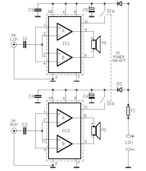 118925 Making A Homemade Power  lifier Pcb Layout Included as well Pre also Active Audio Splitter Line Levels as well Car audio  lifiers together with Pubs. on car stereo amplifier circuit diagram