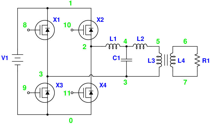 Magic Sinewave Analysis using SPICE and a Simple Inverter Circuit - schematic