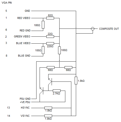 tv to vga schematic wiring diagram for hdmi to vga vga to video converter under repository-circuits -20666 ... #12