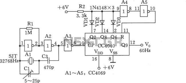 digital clock timer circuit diagram - schematic