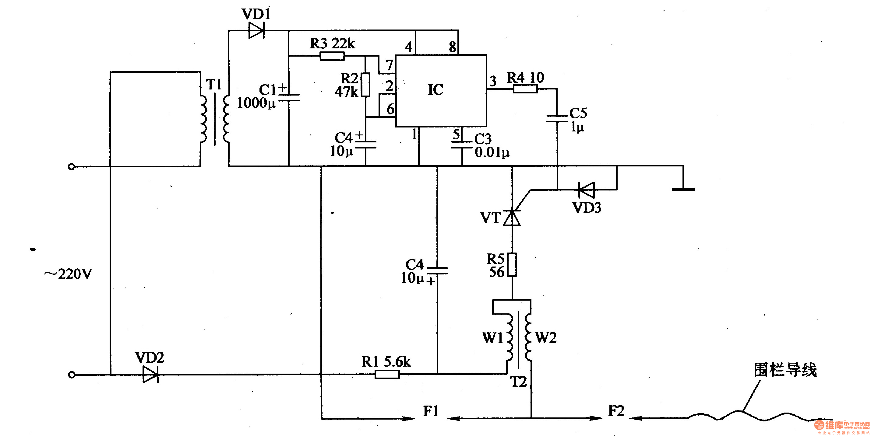 Electric Fence Control Circuit 2 Under Repository Circuits