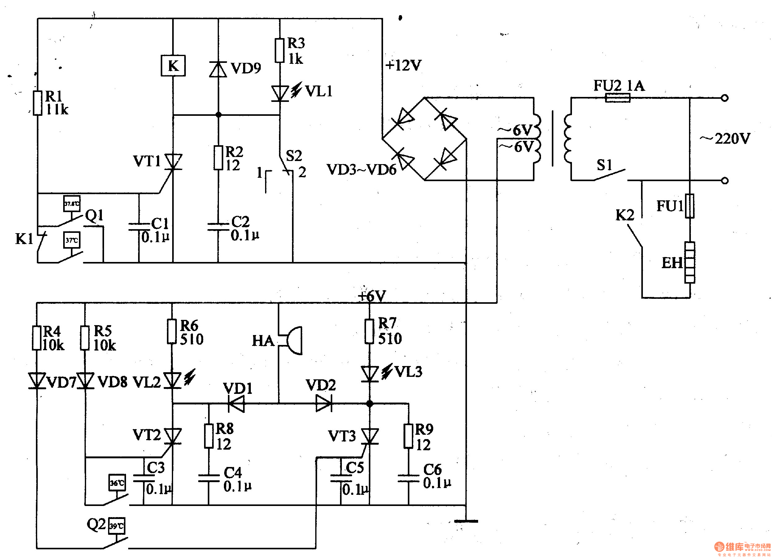 Optical Encoder Circuit Diagram Including Emp Jammer Circuit