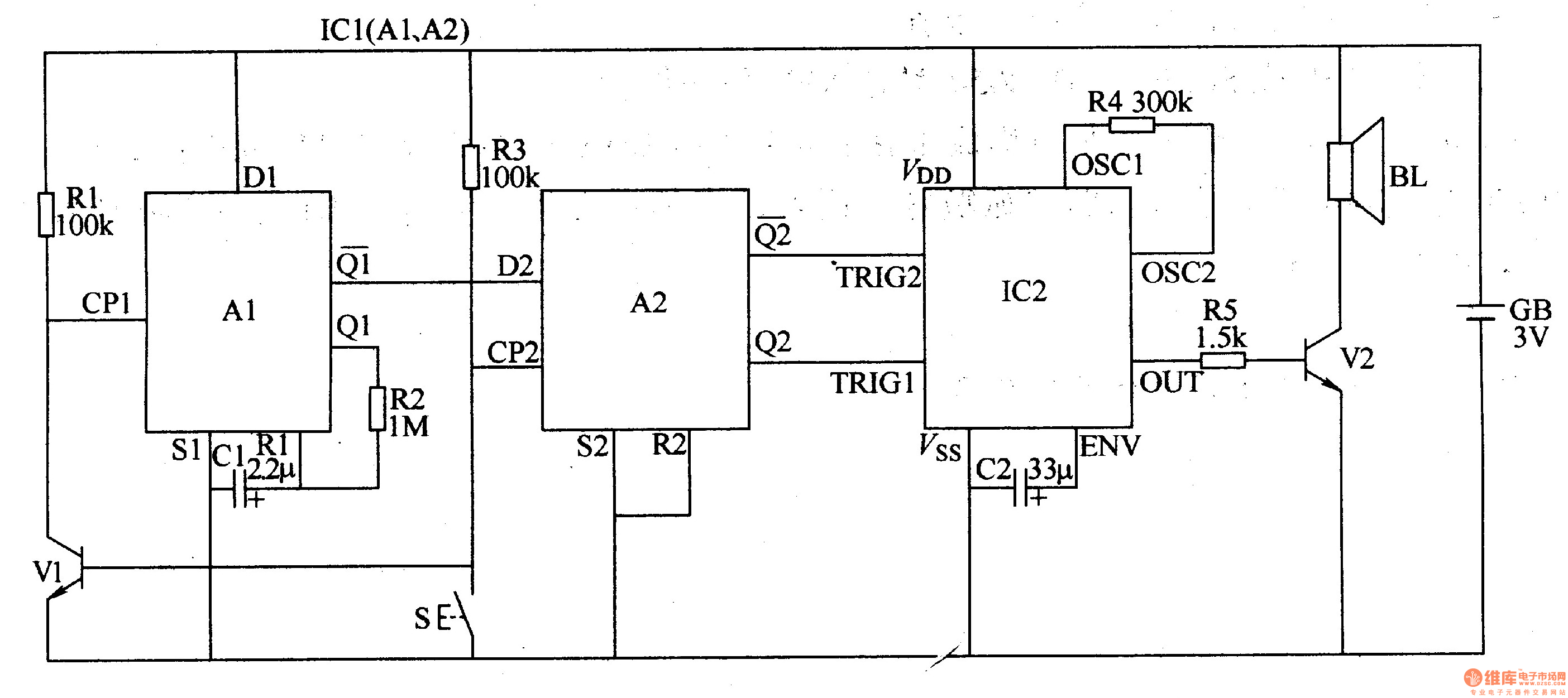 Doorbell Circuit Page 3 Other Circuits Diagram Of Wireless Door Bell Electronics Project Two Tone Electronic 1