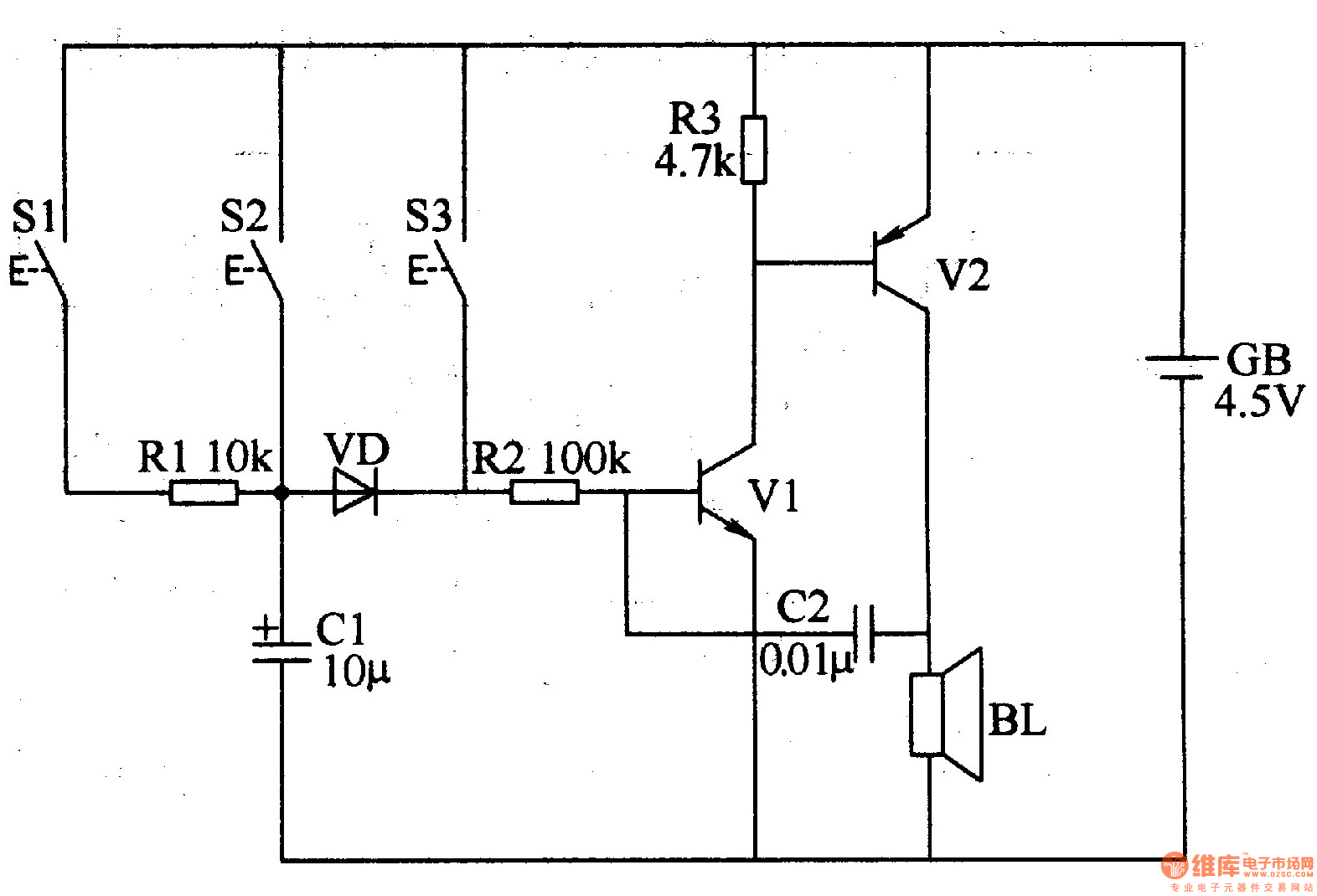 Doorbell Circuit Page 3 Other Circuits Schematic Of Basic Strobe Three Tone Electronic 1