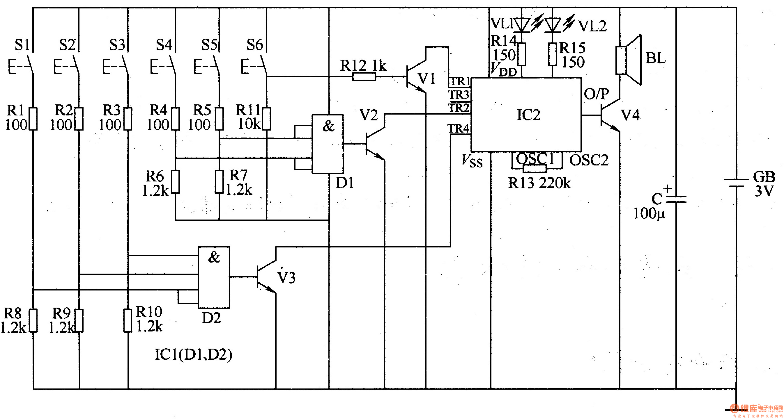 Results Page 8 About Transistors Searching Circuits At Inverter Circuit 4 Power Supply Nextgr Three Tone Electronic Doorbell 2
