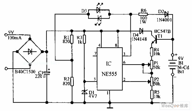 Automatic Ni-Cd Battery ChargerCircuit