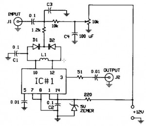 FM modulator circuit - schematic