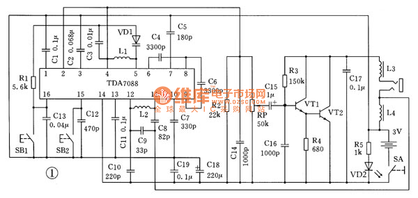 u0026gt  circuits  u0026gt  the application circuit of tda7088 fm integrated circuit l51193