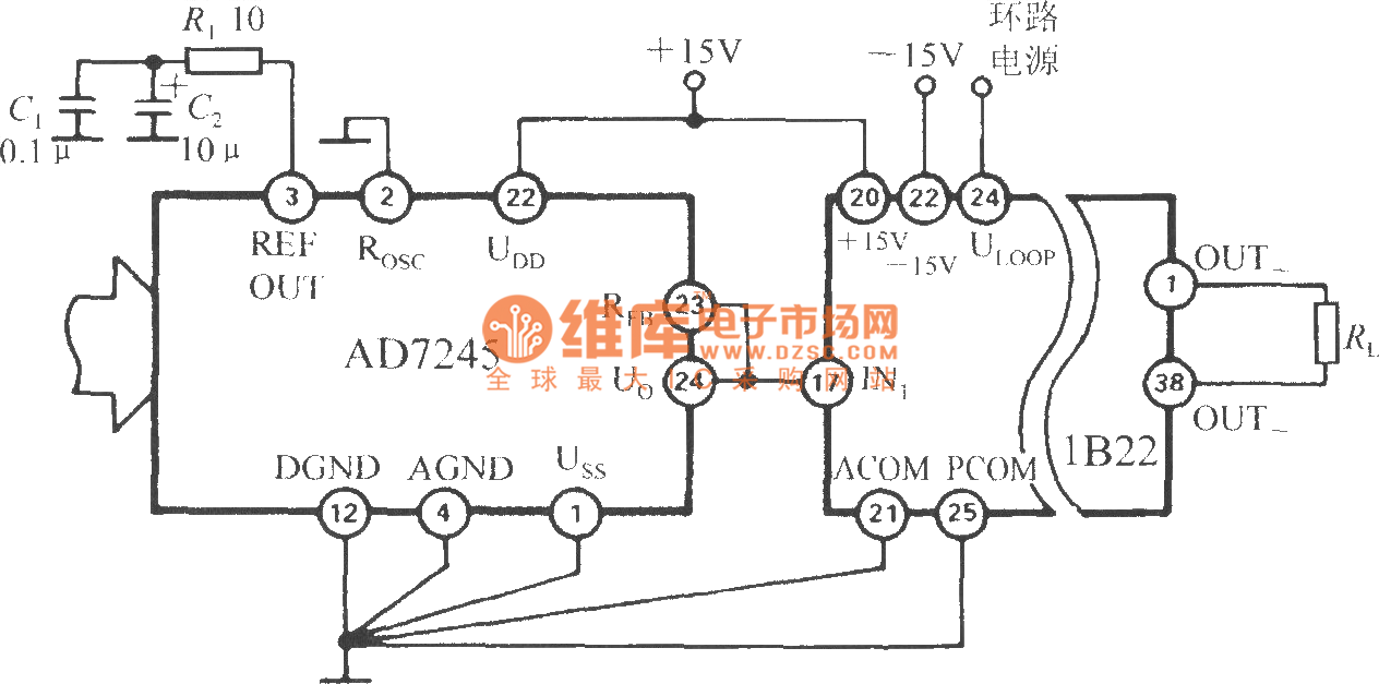 the current loop interface of d  a converter  1b22 isolated programmable voltage  current sensor