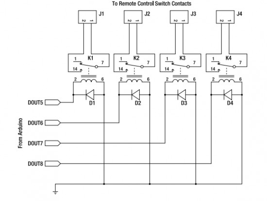 Appliance Remote Control Arduino Project - schematic