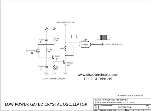 VERY LOW POWER GATED CRYSTAL OSCILLATOR - schematic